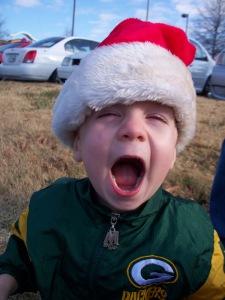 I see Santa! And I just ate a doughnut.