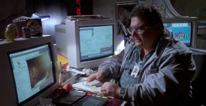 "Photo credit: https://www.robsimdb250challenge.blogspot.com  I found this image when I searched ""Jurassic park computer dude."" I kid you not."