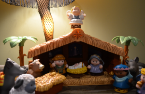 I was hoping for a place to share this image. It's our Little People nativity illuminated by a leg lamp. I need people to know that I am classy.