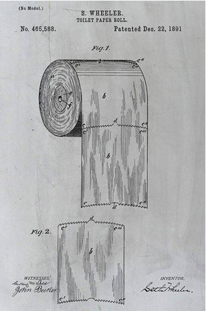 This patent proves nothing. This is a DESIGN patent, not a utility patent. It shows how it's made, NOT how it is used. So take that, all you hung-over people. Welcome to the Under-world.