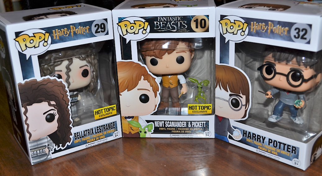 Surprise birthday Funko figures! I live in a world where Newt Scamander and Picket exist!